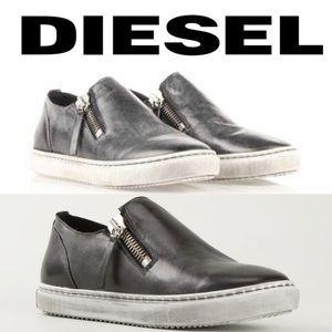 Diesel D-Icon Leather Slip-On Sneakers